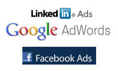 LinkedIn Ads, Google Adwords, Facebook Ads