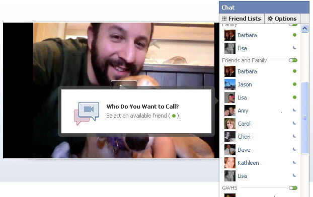 Facebook Video Calling Who Do You Want To Call?