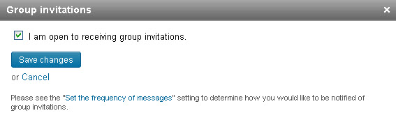 Receiving LinkedIn Group Invitations