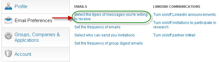 Types of messages you can receive on LinkedIn
