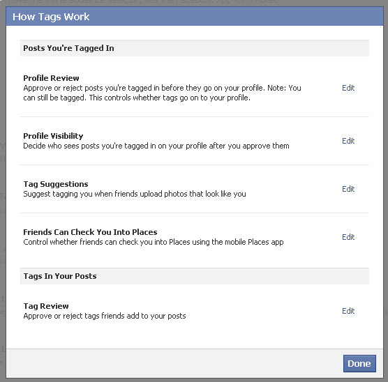 How Tags work on Facebook 2011