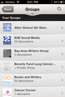LinkedIn Mobile Groups