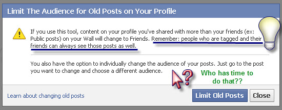 How to limit who sees past posts on Facbeook