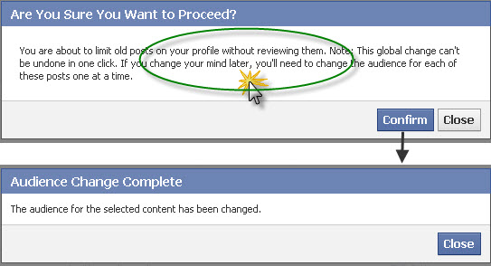 How to limit past posts on Facebook