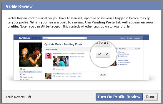How to review photos your are tagged in on Facebook