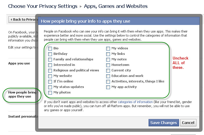 How others share your info on Facebook via apps they use