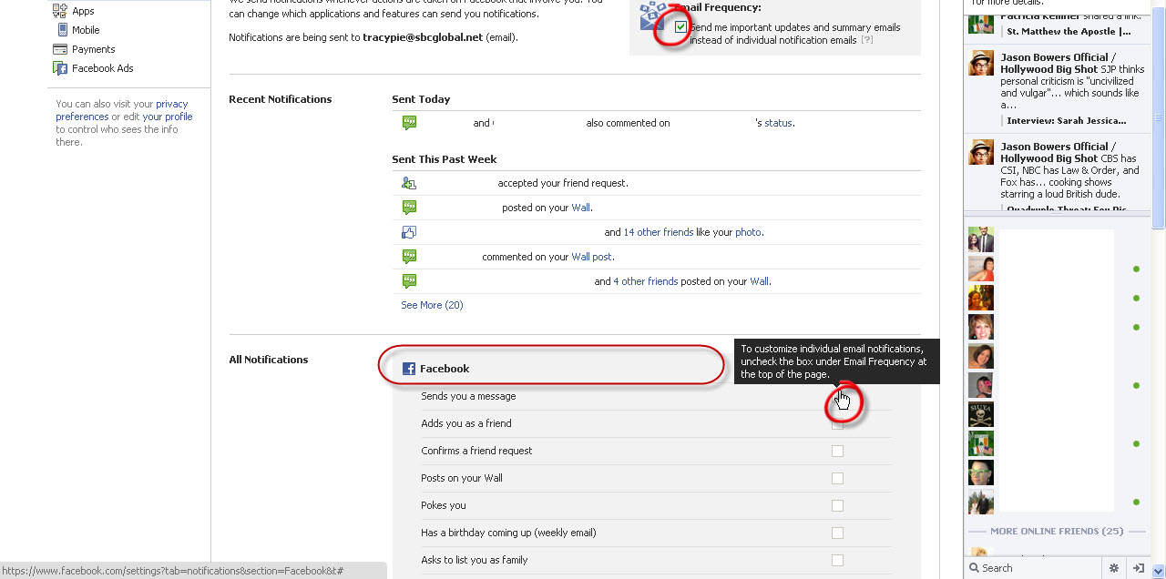 Facebook Email Notification Privacy Settings