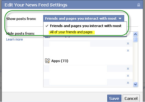 Facebook new News Feed option